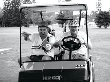 Ranger's Mike Slade and John DeFrehn on one of their many adventurous golf outings.