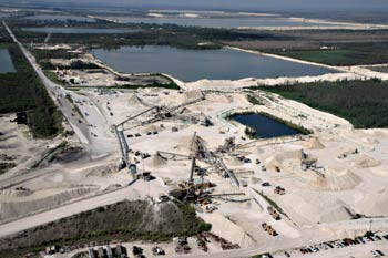White Rock Quarries' main limestone processing facility in Miami, FL.